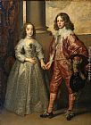 Sir Antony Van Dyck Famous Paintings - William II, Prince of Orange and Princess Henrietta Mary Stuart, daughter of Charles I of England