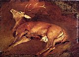 Sir Edwin Henry Landseer - Study Of A Dead Stag