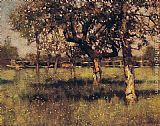 Sir George Clausen - An Orchard in May
