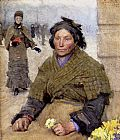 Sir George Clausen - Flora, The Gypsy Flower Seller