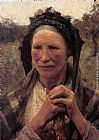 Sir George Clausen - Head of a Peasant Woman