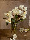 Sir George Clausen - Little White Roses