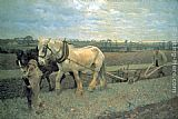 Sir George Clausen - Ploughing