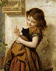 Sophie Gengembre Anderson - Her Favorite Pets