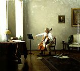 Steven J Levin - Man playing a Cello