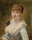 Theobald Chartran - Portrait of a Young Lady