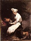 Theodule Augustine Ribot - The Cook and the Cat