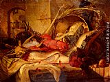 Theude Gronland - A Still Life With Lobster And Game