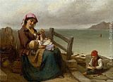Thomas Brooks - Mother and Child by the Seaside