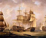 Thomas Buttersworth - The Battle Of Cape St. Vincent, February 14, 1797, The San Nicolas And The San Josef