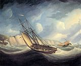Thomas Buttersworth - The Rapid Schooner and Deal Lugger off the South Foreland