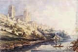 Thomas Girtin Famous Paintings - Durham Cathedral and Castle