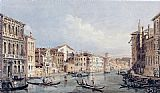 Thomas Girtin Famous Paintings - Grand Canal, Venice (after Canaletto)