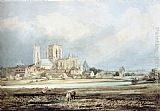 Thomas Girtin Wall Art - York Minster from the South-East, with Layerthorpe Bridge