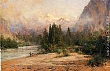 Thomas Hill - Bow River Gap at Banff, on Canadian Pacific Railroad