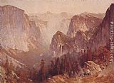 Thomas Hill Encampment Surrounded by Mountains painting