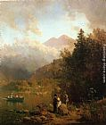 Thomas Hill - Fishing Party in the Mountains