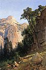 Valley Canvas Paintings - North Dome, Yosemite Valley