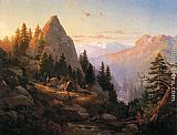 Thomas Hill Sugar Loaf Peak, El Dorado County painting