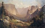 Valley Canvas Paintings - View of Yosemite Valley