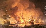 Thomas Luny - Battle of the Nile, August 1st 1798 at 10 pm