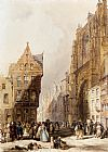 Thomas Shotter Boys - Figures On A Street In A Market Town, Belgium