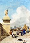 Thomas Shotter Boys Near The Tuilleries Gardens, Paris painting