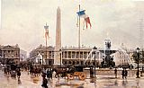 Ulpiano Checa y Sanz - A View of the Place de la Concorde
