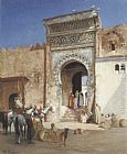 Victor Pierre Huguet - Arabs Outside the Mosque