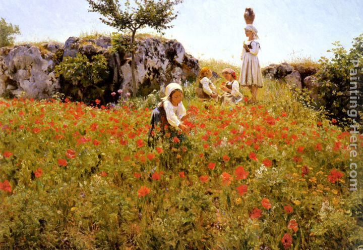 Viggo Christian Frederick Pedersen Picking Poppies, Sora