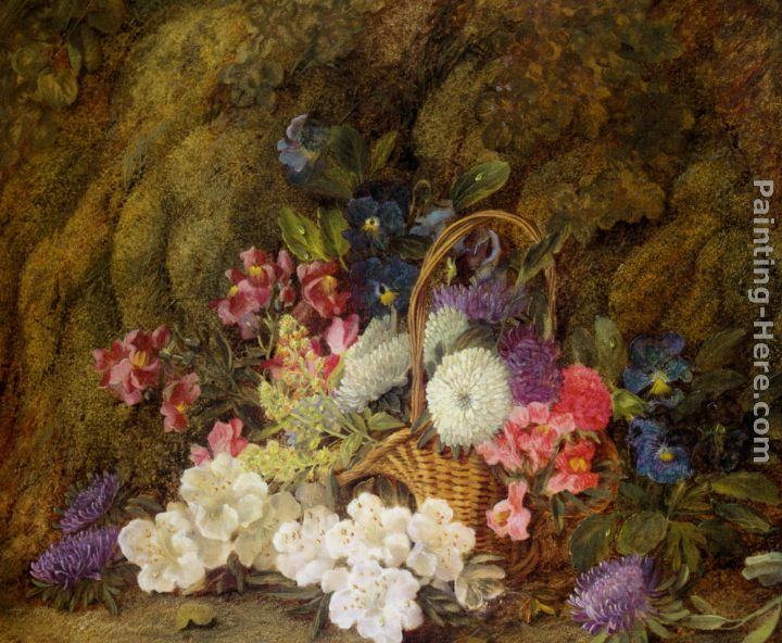 Vincent Clare Still life with a basket of flowers