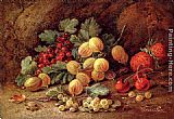 Vincent Clare Strawberries, Cherries, Gooseberries And Red And White Currants painting