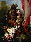 Virginie de Sartorius - A Greek Urn with Garland of Roses