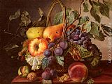 Virginie de Sartorius - A Still Life With A Basket Of Fruit