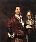 Vittore Ghislandi - Portrait of Giovanni Secco Suardo and his Servant