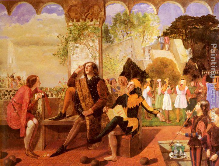 Walter Howell Deverell Twelfth Night, Act II, Scene IV