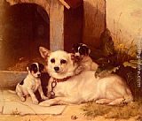 Walter Hunt - Mother And Puppies Resting