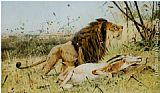 Wilhelm Kuhnert - Lion and his Prey