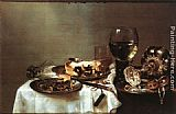 Willem Claesz Heda - Breakfast Table with Blackberry Pie