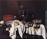 Willem Claesz Heda - Still-Life with Pie, Silver Ewer and Crab