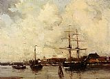 Willem George Frederik Jansen - A View Of Harlingen Harbour