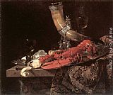 Willem Kalf - Still Life with Drinking-Horn, Lobster and Glasses