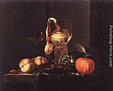Fruit Wall Art - Still-Life with Silver Bowl, Glasses, and Fruit