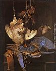 Willem van Aelst Still Life with Hunting Equipment painting