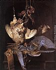 Willem van Aelst Still-Life with Hunting Equipment and Dead Birds painting
