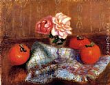 William Glackens - Roses And Persimmons