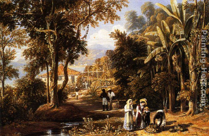 William Havell Garden Scene On The Broganza Shore, Rio De Janeiro