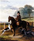 William Henry Knight - Mr. Gilpin On His Favorite Hack With Greyhounds