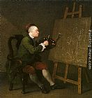 William Hogarth - Self Portrait at the Easel