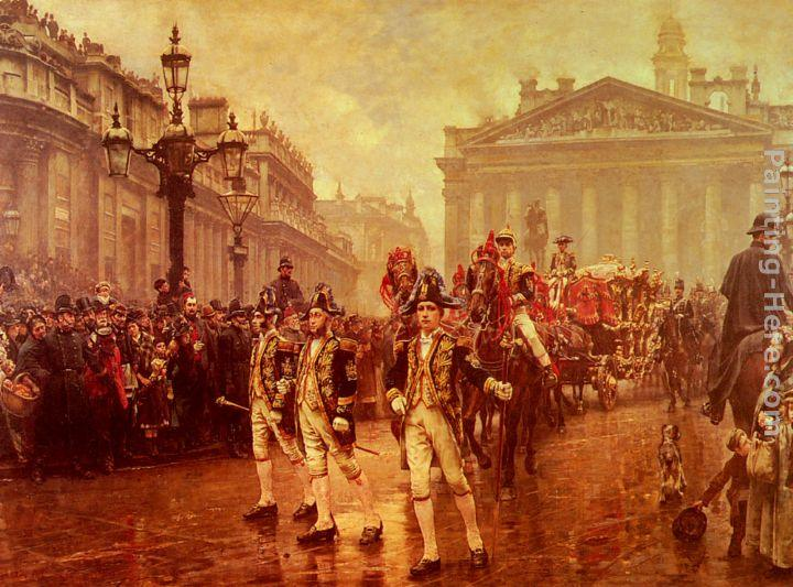 William Logsdail Sir James Whitehead's Procession, 1888